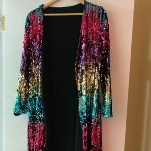 Jackets & Blazers - Sequined Duster